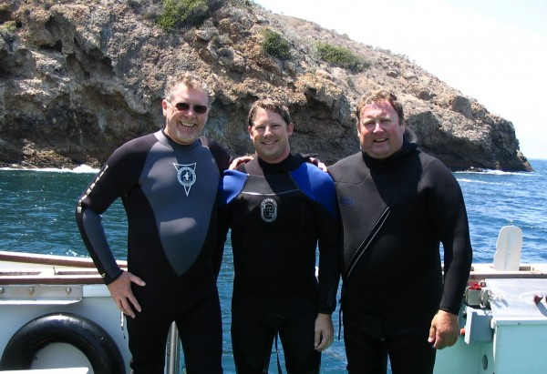 Diving with dad @Santa Cruz Island CA where he raised me to love the ocean= priceless